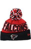 New Era Atlanta Falcons Rep Your Team Pom Knit Hat - Lyst