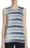 Fendi Striped Cotton Shell - Lyst