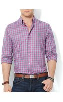 Ralph Lauren Polo Plaid Oxford Shirt  Slim Fit - Lyst