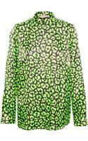 Christopher Kane Leopard Print Technofabric Shirt - Lyst