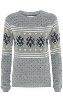 Chinti & Parker Snowflake Fair Isle Sweater - Lyst