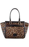 Christian Louboutin Farida Leopardprint Calfhair Bowler Bag - Lyst