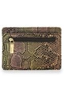 Hobo Snakeprint Euro Slide Card Holder - Lyst