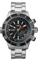 Timex® Mens Premium Intelligent Quartz Depth Gauge Stainless Steel Bracelet 46mm T2n809ab - Lyst