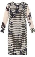 Raquel Allegra Striped Cloudprint Dress - Lyst