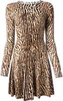 MICHAEL Michael Kors Leopard Print Flared Dress - Lyst