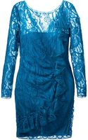 Emilio Pucci Lace Ruffle Dress - Lyst
