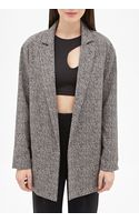Forever 21 Longline Abstract Herringbone Blazer - Lyst