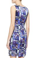 Armani Kaleidoscopeprint Silk Dress - Lyst