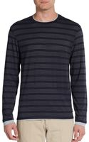 Armani Striped Layered-Look Top - Lyst