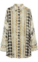 Balmain Oversized Printed Silk Shirt - Lyst