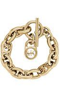 Michael Kors Goldtone Chainlink Padlock Bracelet - Lyst