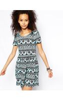Asos Skater Dress in Geotribal Print - Lyst