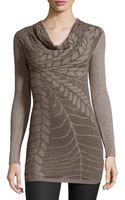 Alberto Makali Leafpattern Knit Sweater - Lyst