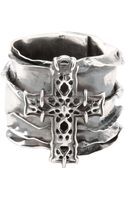 Emanuele Bicocchi Sterling Silver Cross Ring - Lyst