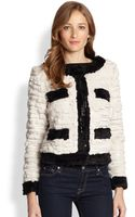 Milly Gabrielle Fringed Faux Fur Jacket - Lyst