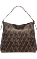 Fendi Zuccaprint Large Canvas Hobo Bag - Lyst
