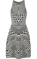 McQ by Alexander McQueen Printed Jacquard-knit Dress - Lyst