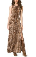 Michael Kors Mixed Animalprint Maxi Dress Plus Size - Lyst