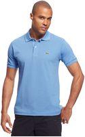 Lacoste Pique Cotton Polo Shirt - Lyst
