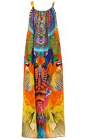 Camilla Embellished Printed Silk Maxi Dress - Lyst