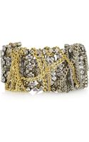 Lulu Frost Oxidized Silver-tone and Gold-plated Crystal Bracelet - Lyst