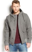 American Rag Hooded Bomber Jacket - Lyst