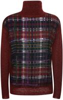 Marco De Vincenzo Mohair Wool and Wool Flannel Sweater - Lyst