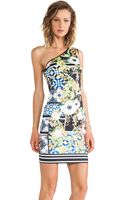Clover Canyon Greek Tiles Neoprene One Shoulder Dress - Lyst