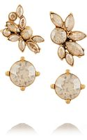 Oscar de la Renta Gold-plated Crystal Earring and Cuff Set - Lyst