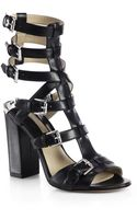 Michael Kors Leather Buckle Sandals - Lyst