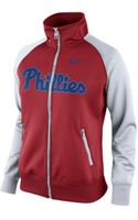 Nike Womens Philadelphia Phillies Track Jacket - Lyst