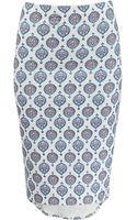 Basta Surf High Waist Printed Pencil Skirt - Lyst