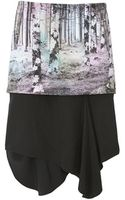 Tibi Enchanted Forest Layered Skirt - Lyst