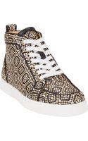 Christian Louboutin Woven Rantus Orlanto Sneakers - Lyst