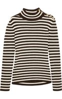 Bouchra Jarrar Striped Wool and Alpaca Blend Sweater - Lyst