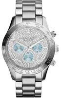 Michael Kors Ladies Layton Glitz Chronograph Watch - Lyst