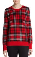 Equipment Shane Plaid Wool Sweater - Lyst