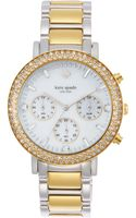 Kate Spade New York Womens Chronograph Gramercy Grand Twotone Bracelet Watch 38mm - Lyst