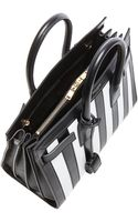 Saint Laurent Small Sac Du Jour Striped Carryall Bag - Lyst