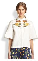 Suno Fruitembroidered Boxy Cotton Shirt - Lyst