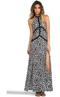Suboo Lunar Leopard Halter Maxi Coverup - Lyst