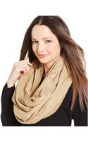Michael Kors Michael Perforated Logo Infinity Scarf - Lyst