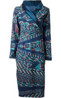 Stella Jean Printed Wrap Dress - Lyst