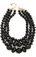 Kate Spade Give It A Swirl Triple Strand Statement Necklace - Lyst