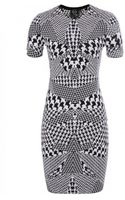 McQ by Alexander McQueen Houndstooth Mini Dress - Lyst