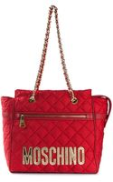 Moschino Quilted Tote - Lyst