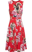 Dolce & Gabbana Wildlife Print Crepe Dress - Lyst