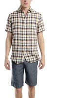 Rag & Bone Short Sleeve 34 Placket Shirt in Blue - Lyst