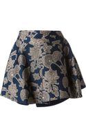 Roberto Cavalli Floral Jacquard Skirt - Lyst